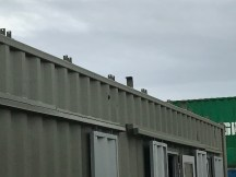 The lugs for the roof trusses