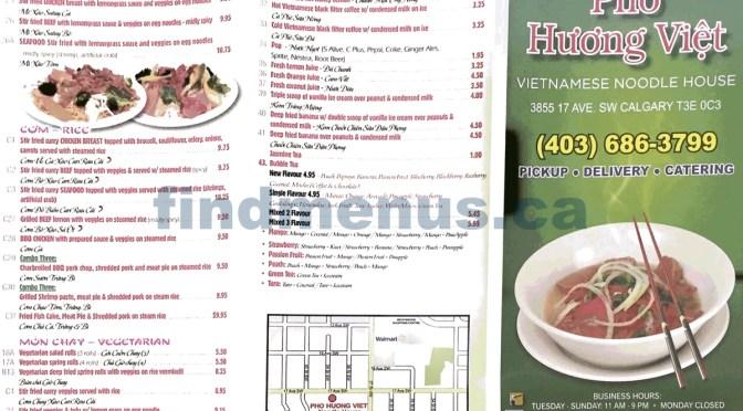 Menu Updated: Pho Huong Viet