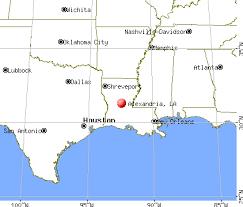 Alexandria Louisiana map