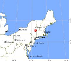 Map of Albany NY