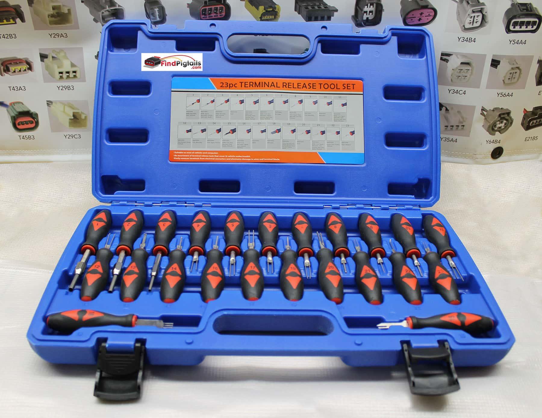 Terminal Release Kit-23 Piece De-pin/re-pin Repair Set