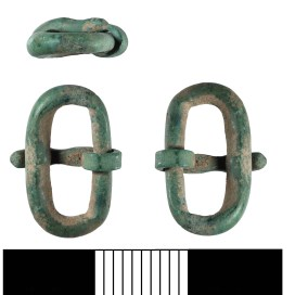Early Anglo-Saxon buckle of simple oval shape (BH-3473A5)