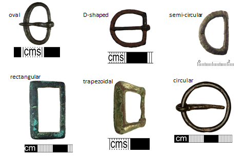 Six common shapes for single-loop buckle frames