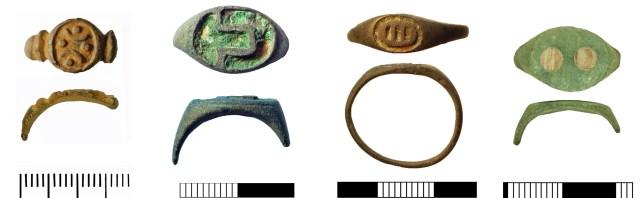 Enamelled Roman finger-rings: GLO-8D4167,