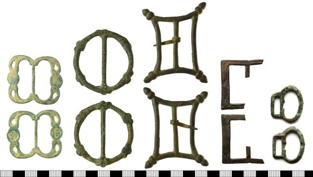Ornate double-loop buckles (HAMP-3E0A67, SF-BA1858, SF-CB6C08, NMS-842A53, PUBLIC-4B301F)