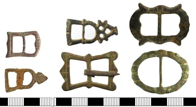 17th-century buckles (SUSS-8DA08D, ESS-45CC53, WAW-AD2DC4, WMID-9CC53C, WMID-BCEB64, DUR-6CA4D1)
