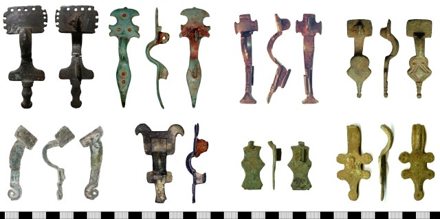 Some unusual small-long brooches. Top row, left to right: NMS-B27BE9, SOMDOR-DEA564, NLM-694867, SUSS-EF9934. Bottom row, left to right: KENT-0FF983, PUBLIC-D52688, SF-C3875F, BUC-6C19E3.