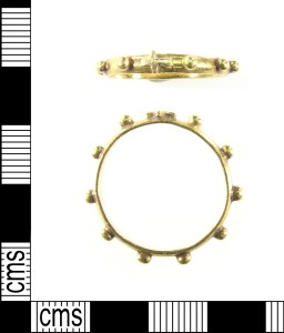 Post-medieval gold decade ring.