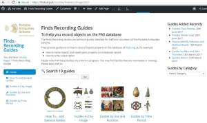 Finds Recording Guides Home Page