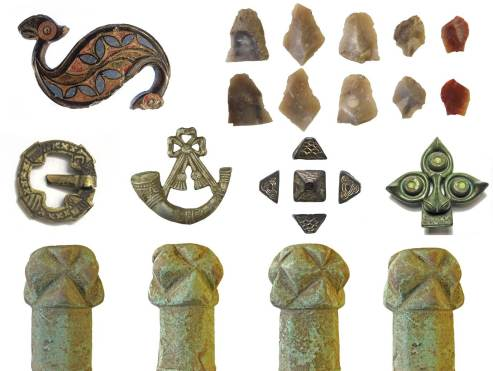 Image of 7 finds found in the county of Durham.