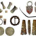 Image of seven archaeological finds found in Herefordshire.
