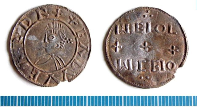 Coin of Edward the Elder, from a small hoard found in Norfolk (NMS-88D191).