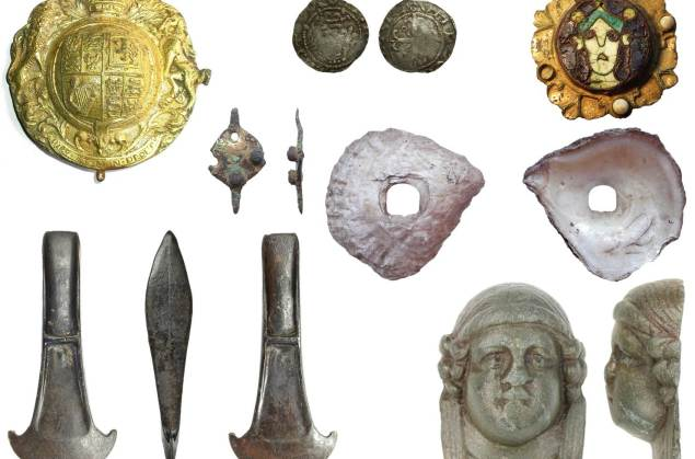 Image of seven archaeological finds chosen by our volunteers.