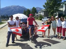 Tony and the gang with the PediCab