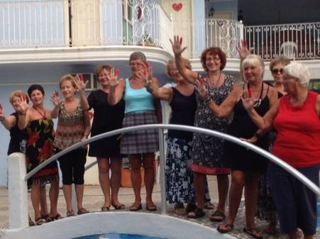 Mom and the ladies in Mexico
