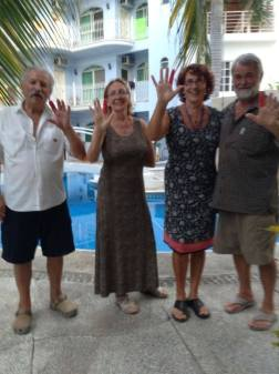 Dad, Mom, Andja and Ivica in Mexico