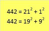 442 sum of squares