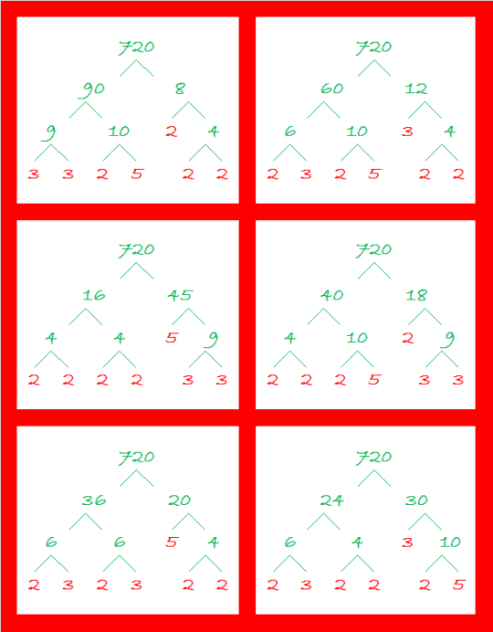 720 More Factor Trees