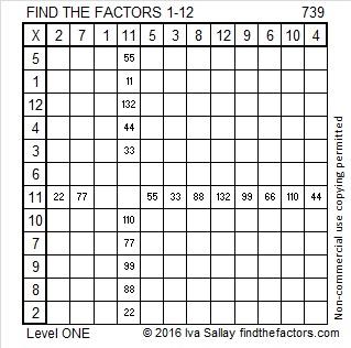 739 Factors