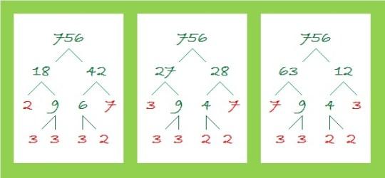 756 factor trees