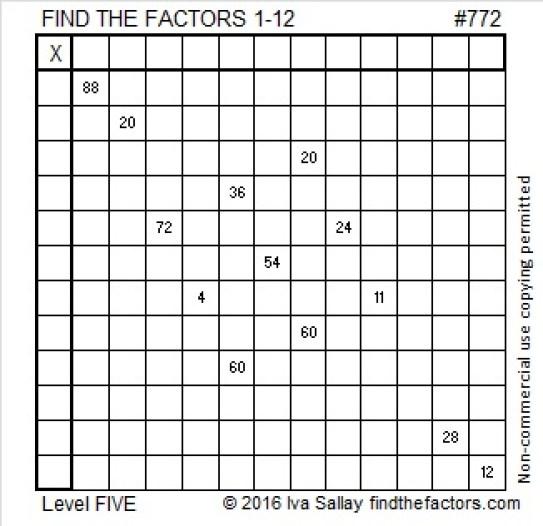 772 Puzzle
