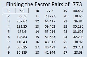 773-factor-pairs