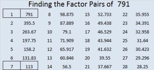 791-factor-pairs