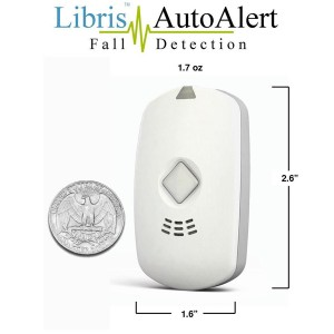 Libris medical alarm shown with US quarter