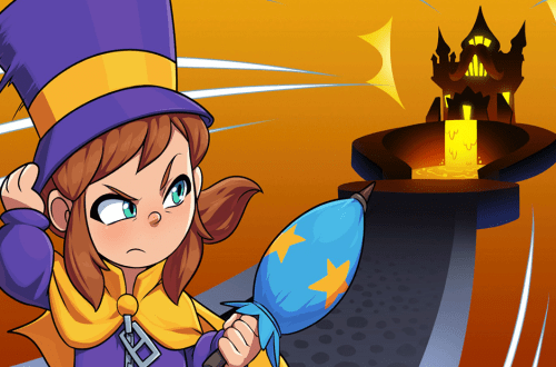 Screenshot from Hat in Time - Hat Kid isn't happy