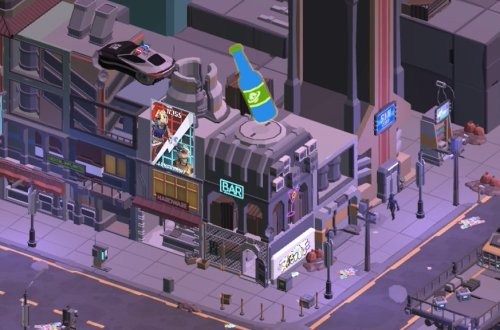 Cyberpunk Bar Sim game header