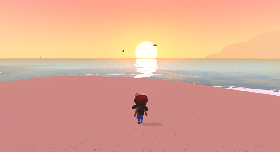 Alba watches the sunset