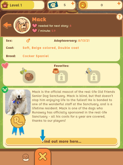 Learn all about Mack in his Woof Book profile