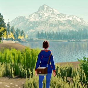 September indie game releases - Meredith looking over the lake in Lake