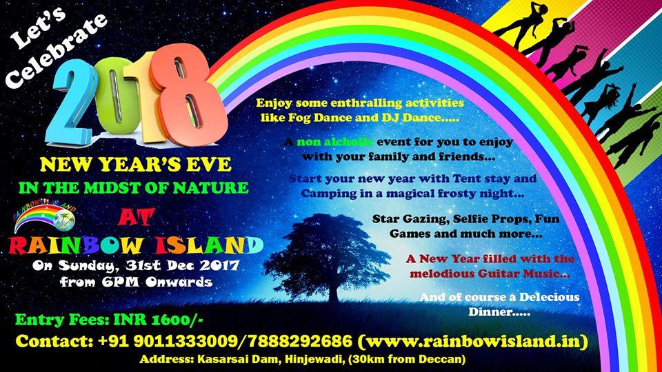 new year party hinjewadi near pune rainbow island