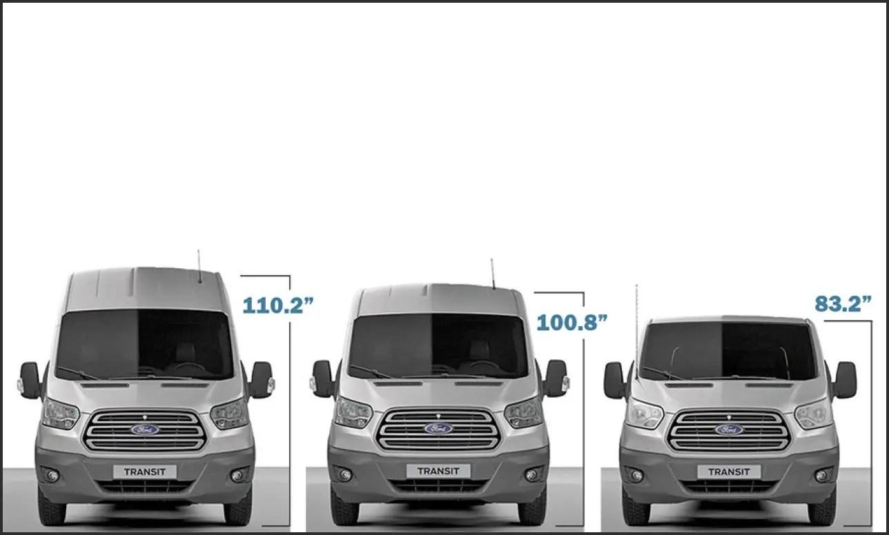 2019 Ford Transit 15 Passenger Van Dimensions