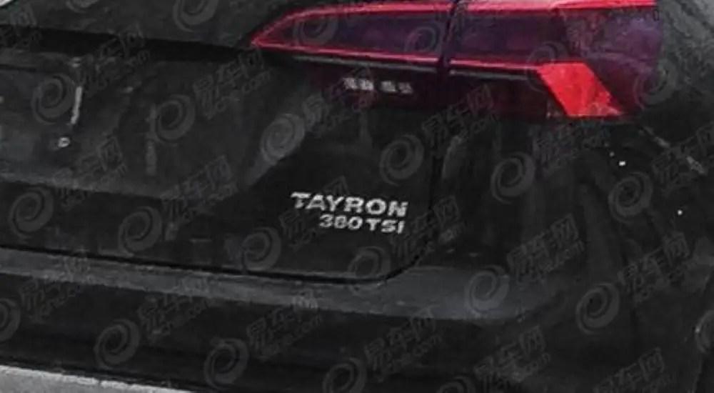 2020 VW Tayron Platform; based On Tiguan