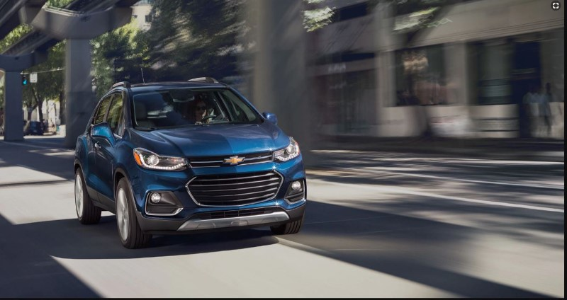 2020 Chevy Trax Blue Color Compact Crossover Review