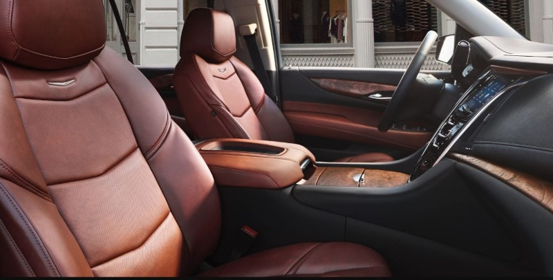 2020 Cadillac Escalade New Interior With Brown Leather Material