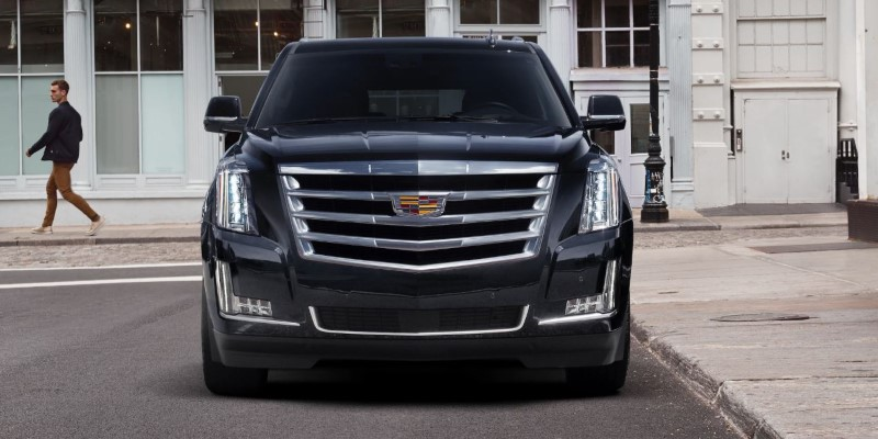 2020 Cadillac Escalade Redesign Exterior Front Angel With New Headlamps
