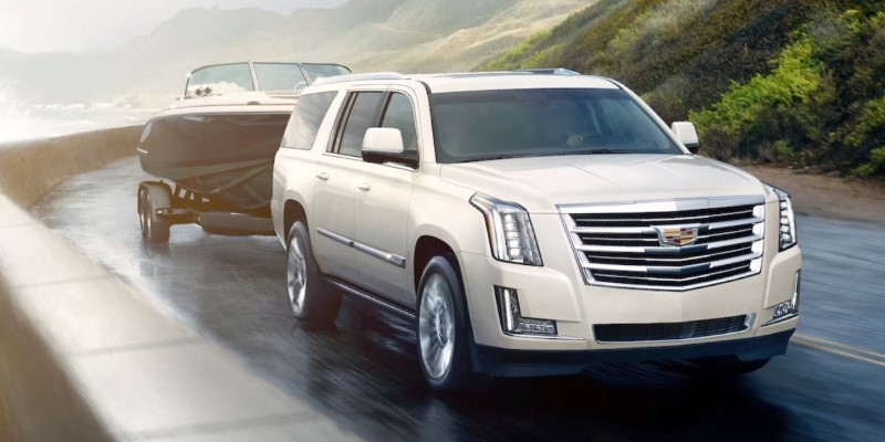 2020 Cadillac Escalade Towing a Boat
