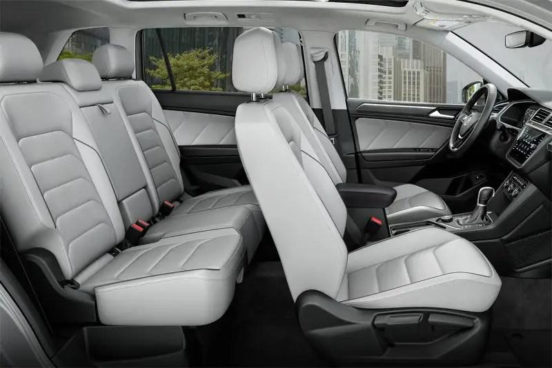 2020 VW Tiguan Interior White Color Leather Seat