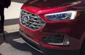 2020 Ford Edge Front Angle Titanium New Headlight