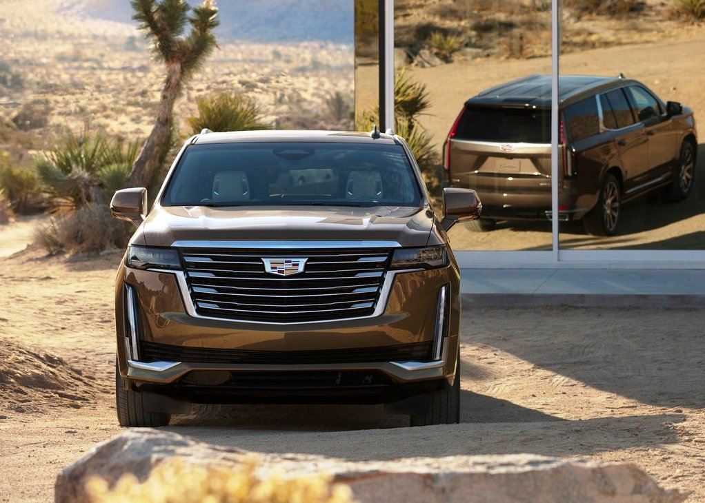 2021 Cadillac Escalade Redesign Front Angle With All New Design