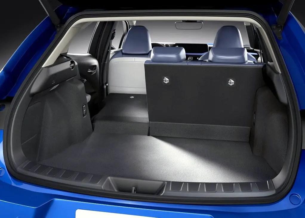 2021 Lexus UX 300e Crossover Trunk Capacity