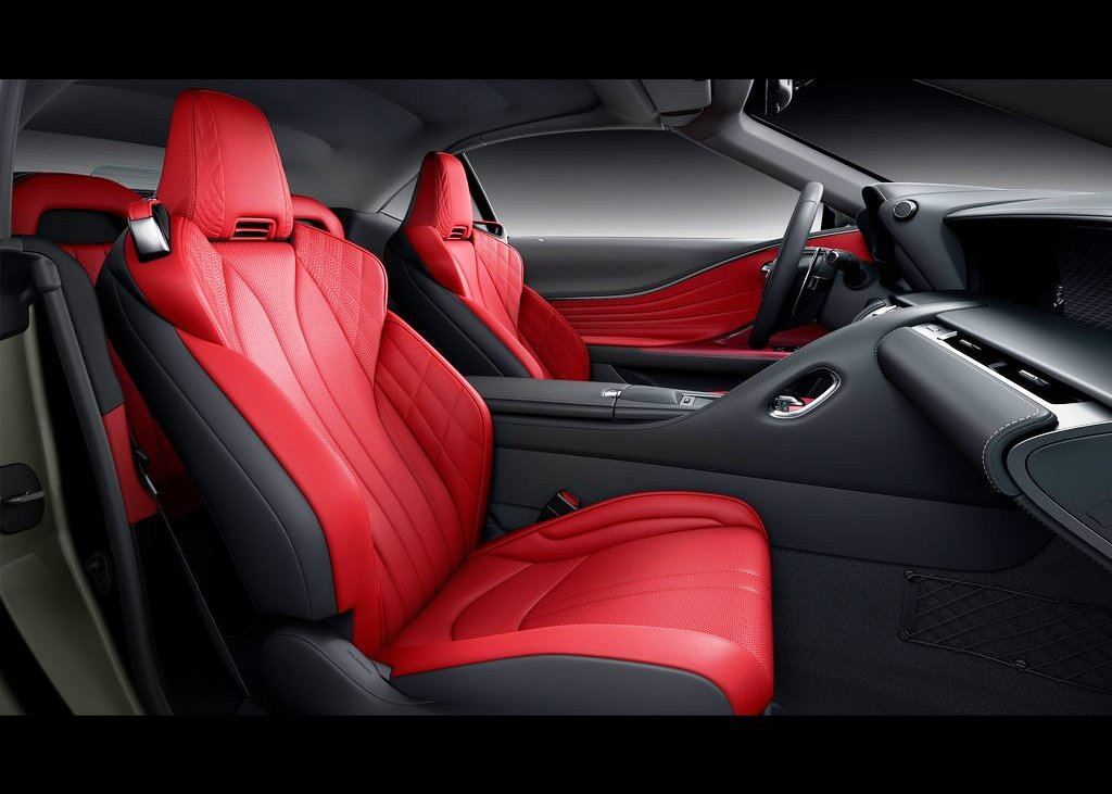 2021 Lexus LC 500 Convertible Sporty RED and Black Interior