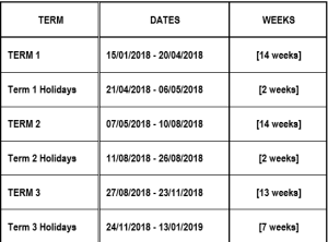 Local School HOlidays for fiji 2018