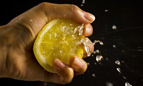 Squeezing-a-lemon