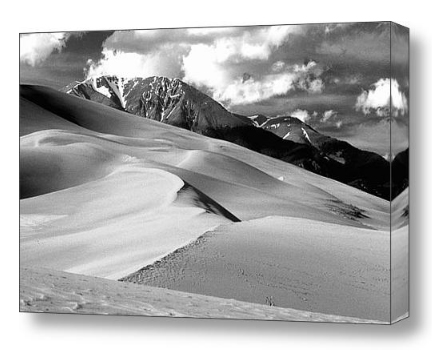 Sand Dunes black and white fine art print and canvas art.