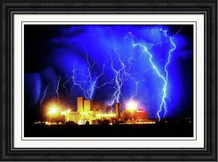 Budwesier Storm HDR Framed Fine Art Print