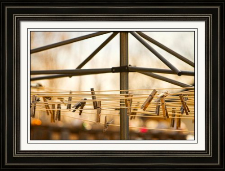 Clothespins on the Line Fine Art Famed Print